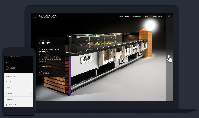 Criocabin progetto sito web istituzionale yak agency for Sito web design piano piano